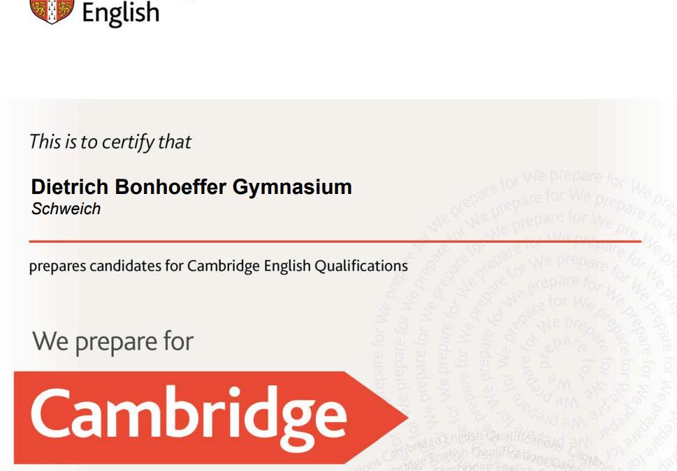 Cambridge Prüfung 2021